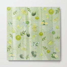 Freefall Lime Frenzy Metal Print