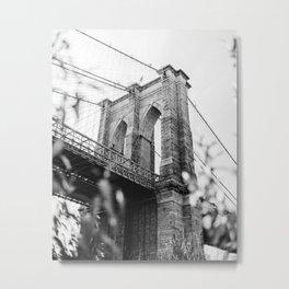 Brooklyn Bridge, New York Metal Print