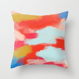 Summer In Abstract Throw Pillow