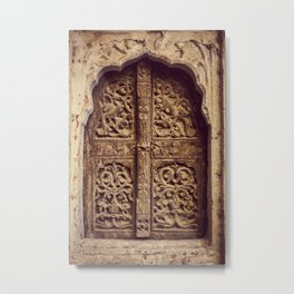 Doors Of Rajasthan 3 Metal Print