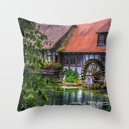 Old hammer mill  Throw Pillow