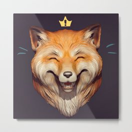 Happy Fox Metal Print