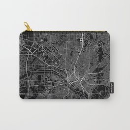Dallas Black Map Carry-All Pouch