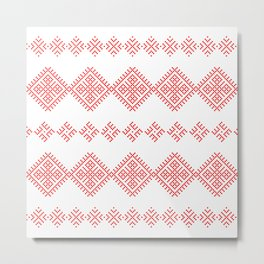 Pattern - Family Unit - Slavic symbol Metal Print