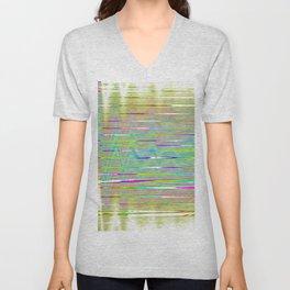 rainbow static Unisex V-Neck