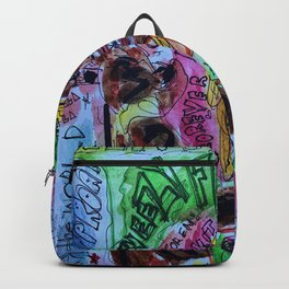 wayn,small,poster,drawing,painting,singer,rapper,rap,wall art,fan art,cool,dope,original,graffiti Backpack