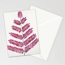 Pink Leaflets Stationery Cards