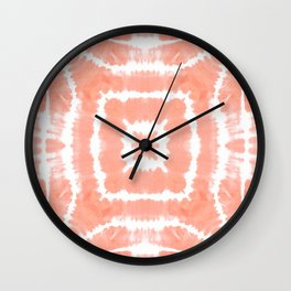 SHIBORI FESTIVAL SUMMER - WILD AND FREE - BLOOMING DAHLIA Wall Clock