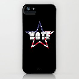 Abstract Star And Vote Illustration iPhone Case
