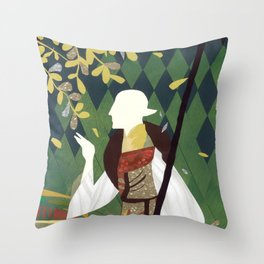 Dragon Age Solas Tarot Paper Art Throw Pillow