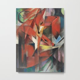 Franz Marc - The Foxes Metal Print