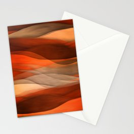 """Sea of sand and caramel waves"" Stationery Cards"