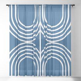 Balance - blue Sheer Curtain