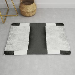Geometric Merz - Black White Retro Dadaism Rug