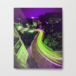 San Francisco California Lombard Street Metal Print