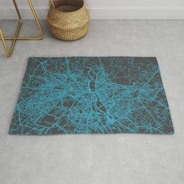 New Delhi Map blue Rug