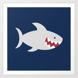 Happy Sharks Art Print