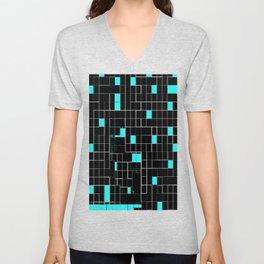 Bubblegum blue cubes Unisex V-Neck