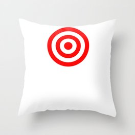 Bullseye Target Red & White Shooting Rings Throw Pillow