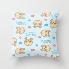 Sloth Baby Pattern Throw Pillow