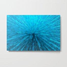 Bursting Blue Energy Metal Print