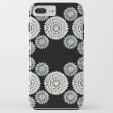 Silver and Black Mandala Circles iPhone 8 Plus Tough Case