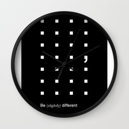 Something Slightly Different Wall Clock