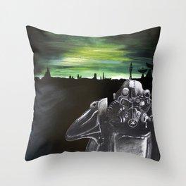 Fallout Brotherhood Landscape Throw Pillow