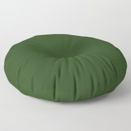 Solid Dark Forest Green Simple Solid Color All Over Print Floor Pillow