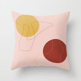 Minimal yin and yang Throw Pillow
