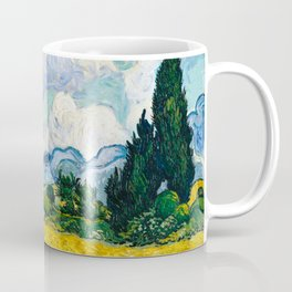 Vincent Van Gogh - Wheat Field with Cypresses Coffee Mug