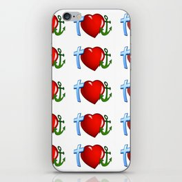 FAITH IS THE ANCHOR OF THE HEART iPhone Skin