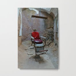 Shave and a Haircut Metal Print