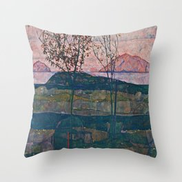 Egon Schiele - Setting Sun Throw Pillow