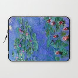 Claude Monet Waterlilies Red Laptop Sleeve