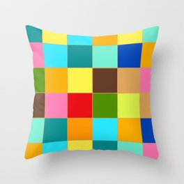 Colorful geometry, happy colors Throw Pillow
