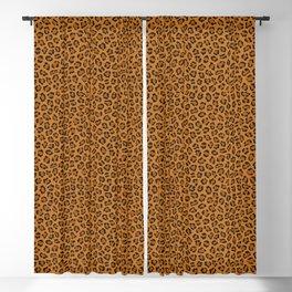 Dark leopard animal print Blackout Curtain