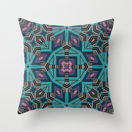 Abstract star, geometric ornament Throw Pillow