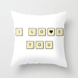 Love scrabble Throw Pillow