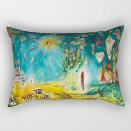 The Earth Is a Man landscape by R. Matta Rectangular Pillow