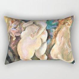 Jules Pascin - Seven women - Digital Remastered Edition Rectangular Pillow