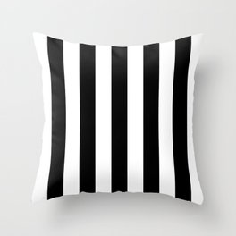 Lowest Price On Site - Vertical Black and White Stripes Throw Pillow