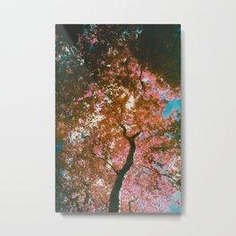 Pink infrared trees Metal Print