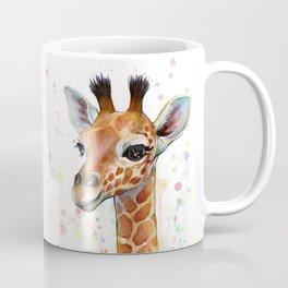 Giraffe Baby Watercolor Kaffeebecher