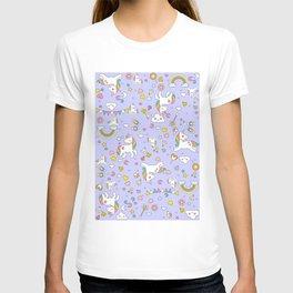 Unicorn Lilac Pattern T-shirt