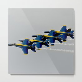 Navy's Blue Angels Airplanes in Formation Flight Metal Print