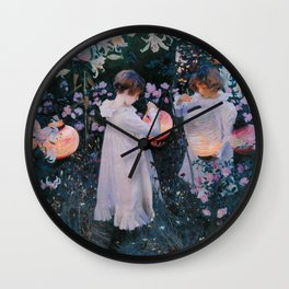 John Singer Sargent ; Carnation, Lily, Lily, Rose ; 1886 Wall Clock
