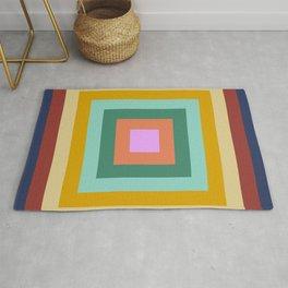 Polychrome Colored Squares Rug