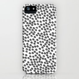 Dots that are the color black iPhone Case