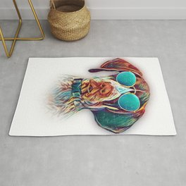 German Shorthaired Pointer Colorful Neon Dog Sunglasses Rug